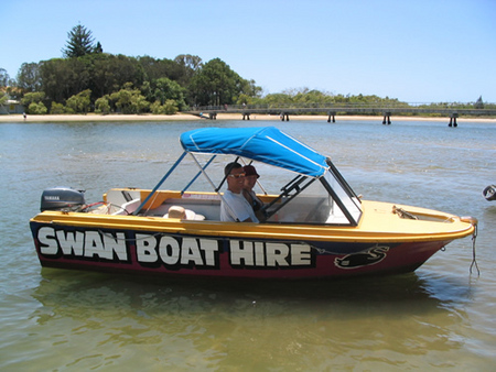 Swan Boat Hire - Accommodation Redcliffe