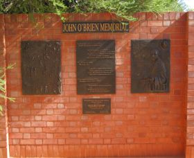 John OBrien Commemorative Wall - Accommodation Redcliffe
