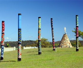 Maclean Tartan Power Poles - Accommodation Redcliffe