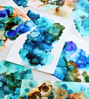 Alcohol Ink Art Class - Accommodation Redcliffe