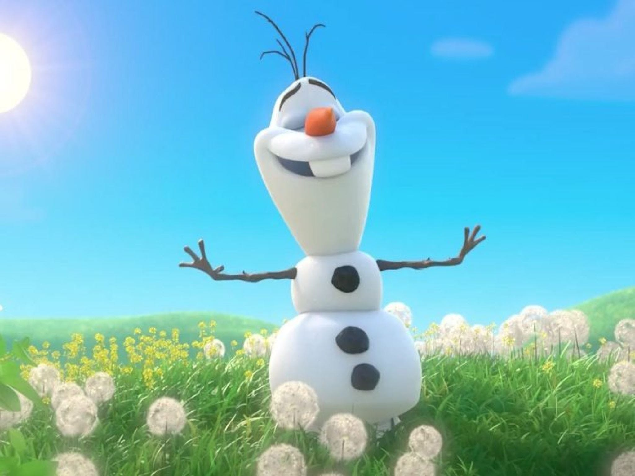 Meet Olaf from Frozen - Accommodation Redcliffe