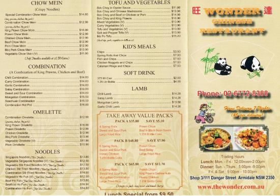 Wonder Chinese Restaurant - Accommodation Redcliffe